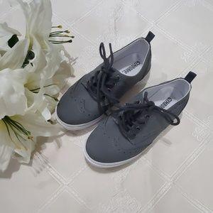 GYMBOREE Boys Size 1 Gray Sneaker Shoes